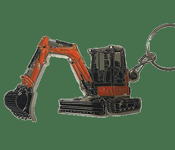 Metal Excavator Key Ring