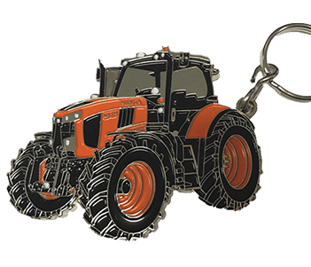 Metal Tractor Key Ring