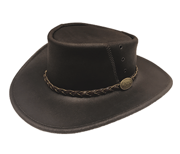 Oiled Leather Cattlemans Hat