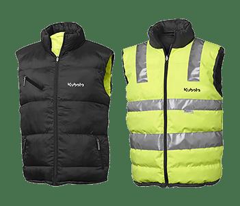 Reversible Hi Vis Puffer Vest